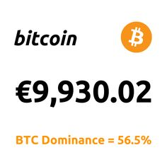 """Top News: """"... Major European Stock Exchange Lists First Bitcoin Product ...""""  1 Bitcoin = €9,930.02 BTC Dominance = 56.5% Marketing Data, Bitcoin Price, Top News, Inevitable, All About Time, Tech Companies, Rich List, Health Insurance, Wall Street"""
