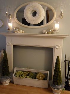faux fireplace for bedroom love it