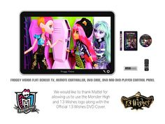 My Froggy Stuff Monster High | ... Flat Screen TV with DVD Player: Special Monster High 13 Wishes Craft