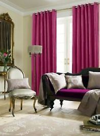 Faux Silk Magenta Lined Eyelet Curtains – Linen and Bedding Pink Bedding, Comforter Sets, Luxury Bedding, Turquoise Bedding, Luxury Linens, Plaid Bedding, King Comforter, White Bedding, Magenta