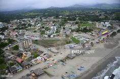 Aerial view of Pedernales, Ecuador on May 16, 2016, a month... #ano: Aerial view of Pedernales, Ecuador on May 16, 2016, a month… #ano