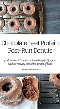 a traveling Wife: Chocolate Beet Protein Post-Run Donuts