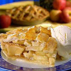 Paula's Apple Pie Filling - We like this filling in our whole wheat pie crust. I dot the filling with butter before laying on the lattice, and if the apples seem especially juicy, I add another tablespoon or so of flour