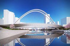 Xianbi Bridge. Image © Santiago Calatrava LLC