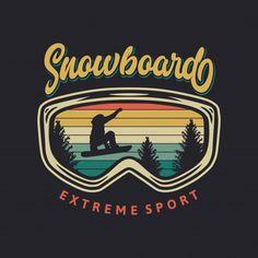 Snowboarding, Skiing, Camping Vintage, Etiquette Vintage, Photography Backdrop Stand, Retro Illustration, Red Lodge, Extreme Sports, Logo Vintage