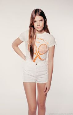 TENNIS CLUB '66 SKINNY T at Wildfox Couture in MILK, BUTTER