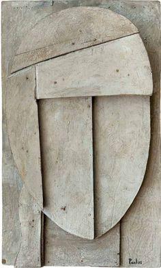 manuel pailós - construcción - 1960 - tabla 66 x 44 Modern Sculpture, Wood Sculpture, Wall Sculptures, Reclaimed Wood Art, Collages, Cardboard Art, Masks Art, Land Art, Wall Collage