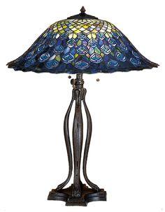 Meyda Tiffany Peacock Feather Table Lamp $693.00