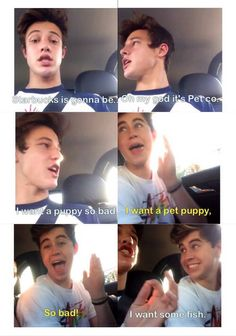 Cameron Dallas and Nash Grier vine how white girls act in a car lololol