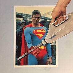 #collage #collages #collageart #analogcollage #superman #moulinex #couteau  #cutnpaste #contemporarycollage #viande #meat #collagist #handmade #handmadecollage #collagecollectiveco #christopherreeve #reeve #slice #tranche