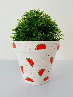 Home /& Gift Ideas. Avocados Design Decoupaged Terracotta Plant Pot