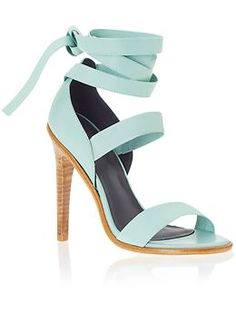 54cfbbb3754 Tibi Pierce - light blue heeled sandal with perfect ankle wrap Shoes Heels  Wedges