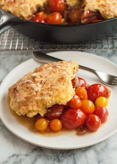 Recipe: Tomato Cobbler with Cornmeal-Cheddar Biscuits — Recipes from The Kitchn | The Kitchn