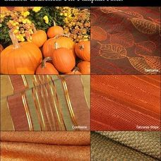Blend orange fabrics with earthy greens and golds in the Pumpkin-Patch-Inspired Curated Fabric Collection.