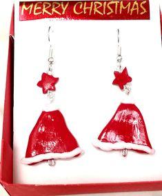 Handmade by Do : Polymer clay earrings, Christmas/ Cercei din fimo,. Polymer Clay Earrings, Drop Earrings, Christmas, Handmade, Jewelry, Fimo, Xmas, Hand Made, Jewlery