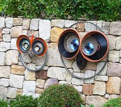 Bicycle Wheel Owl Art. Tutorial and other examples.