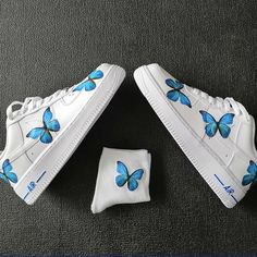 Custom Air Force 1 Low Blue Butterfly Air Force One – theshoesgirl Air Force One, Nike Shoes Air Force, Air Force Sneakers, Sneakers Mode, Sneakers Fashion, Shoes Sneakers, Shoes Men, Fashion Shoes, Custom Af1