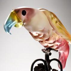 Candy Parrot Kosta Boda, Glass Ornaments, Art Forms, Glass Bottles, Parrot, Glass Art, Candy, Home Decor, Animals