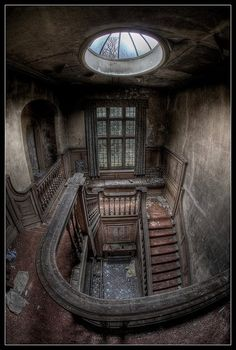 """.Fascinating picture. If those old walls could talk, what stories would they tell? Wander the corridors of a vintage theater and a Victorian mansion in my inspirational thriller, """"The Face Behind the Veil."""" http://florasbook.com"""