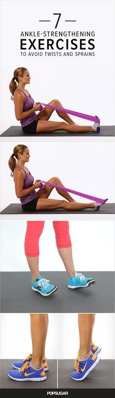 Ankles shouldn't be neglected during your strength-training routine. Strong, flexible ankles are an important foundation, helping prevent injury whether you're running back and forth on the tennis cou (Fitness Tips Of The Day) Mental Training, Strength Training, Weight Training, Running Training, Training Tips, Ankle Strengthening Exercises, Flexibility Exercises, Sprained Ankle Exercises, Ankle Rehab Exercises