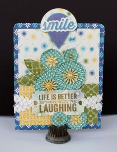 Smile and Laughing Card - Scrapbook.com