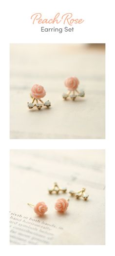 13172bd53 The Peach Rose Earring Set is one of many adorable and functional products in  the MochiThings collection.