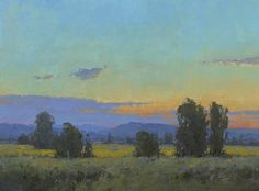 """Wallowa Valley Twilight"" oil 12""X16"""