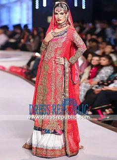Nomi Ansari Bridal Collection 2014  Nomi Ansari Pink Bridal Dress at Pantene Bridal Couture Week 2014 Karachi. Shop Online in New York and New Jersey, USA. New York Phone  1 (347) 404-5789. by www.dressrepublic.com