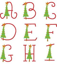 EXCLUSIVE Whimsy Tree Monogram Font - FSF
