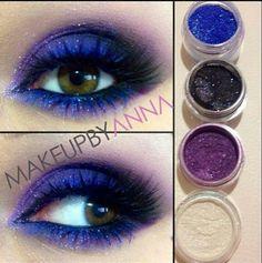 Violeta y azul
