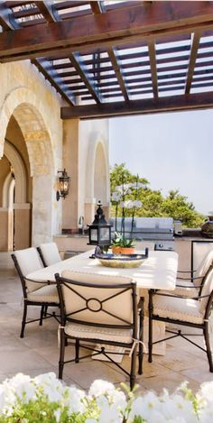 mediterranean patio Old World, Mediterranean, Italian, Spanish & Tuscan Homes & Decor