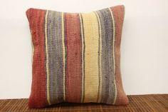 Decorative pillow cover 16 x 16 Anatolian Kilim by kilimwarehouse, $49.00