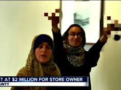 """Disgusting: Two muslim store owners in New York commit burglary and food stamps fraud. Then, when the male is arrested, the wife yells """"F*** America"""" while the daughter flips us off.  This is the true face of islam."""