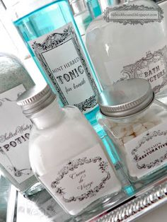 french toiletries | Midsummer Night's Dream: Vintage Toiletry Bottle Labels