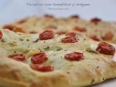 Focaccia tomate y oregano Vegan Recipes Easy, My Recipes, Italian Recipes, Cooking Recipes, Favorite Recipes, Quiches, Foccacia Recipe, Pan Bread, Appetisers