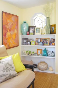 """This is the color we are doing the bedroom: it's called Valspar Signature """"Coconut Creme."""""""