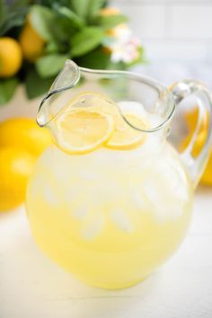It's easy to make homemade lemonade! Learn how to make lemonade: old fashioned, freshly squeezed homemade lemonade recipe using real lemons.