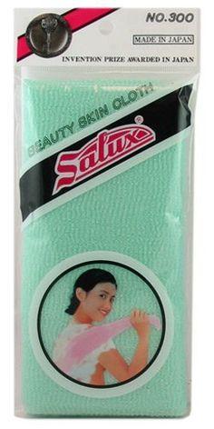 Salux Nylon Japanese Beauty Skin Bath Wash Cloth/Towel- Aquamarine Green $4.49