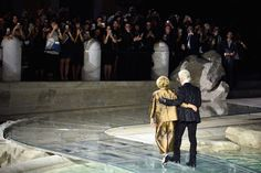 Fendi Roma 90 Years Anniversary Fashion show at Fontana di Trevi