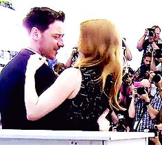 James McAvoy and Jessica Chastain - Cannes 2014