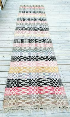 Trasmatta Rag Rugs, Recycled Fabric, Woven Rug, Scandinavian Style, Carpets, Weave, Pattern Design, Bohemian Rug, Retro Vintage