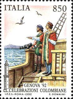1992 - Celebrazioni Colombiane nel  5° Centenario della scoperta dell'America - Colombo avvista la terra (11-12 ottobre 1492)
