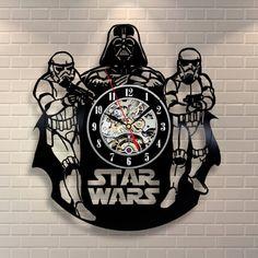 Star Wars design vinyl record clock home decor art shop gift idea collector DD