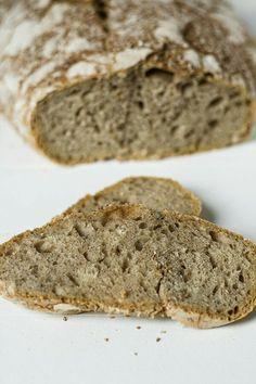 Chleb pszenny razowy bez zagniatania