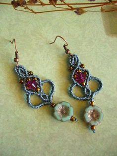 macrame earrings  - Ohrhänger - * Ohrhänger *  - ein Designerstück von crochet bei DaWanda