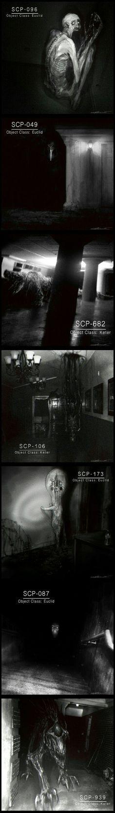 Creepy SCP monsters by Cinemamind - Gaming