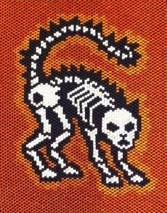 Cat Skeleton Mini Tapestry