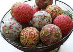 Vintage scraps and wiffle balls~  Pinned this once, but no link to it... try it again!!