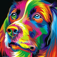 Pop Art Dog Diy Paint By Numbers Kits .It is the perfect first step for beginners to enjoy the art of painting using our People paint by number collection.Paint your own wall art, even if you… Dog Pop Art, Dog Art, Cross Paintings, Dog Paintings, Painting Portraits, Paintings Online, Acrylic Painting Canvas, Canvas Wall Art, Diy Canvas