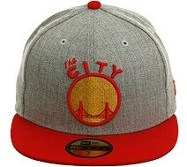 801161c4ebd New Era 2Tone Golden State Warriors City Fitted Hat - Heather Gray